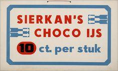 """Show Cards Sierkan Ijs & Choco ijs van """"De Nieuwe Landbouw"""" 1930s…"""