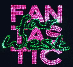 love the popping PINK in this rhinestone logo we at www.Sparkle-Plenty.com created