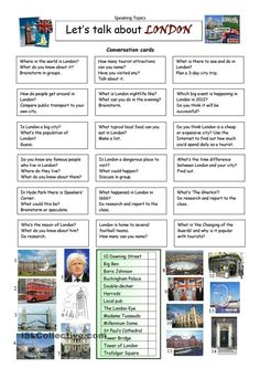 London Tour Vocabulary Exercises worksheet - Free ESL printable worksheets made by teachers English Vocabulary, English Grammar, Teaching English, English Language, English Class, English Lessons, Learn English, Let Them Talk, Let It Be