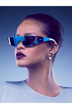 0744917505 Rihanna and Dior Collaborate on Sunglass Collection