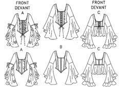 Medieval Shoe Patterns | Renaissance BUSTIER CORSET BONED BODICE COSTUME PATTERN Vogue 7733 ...