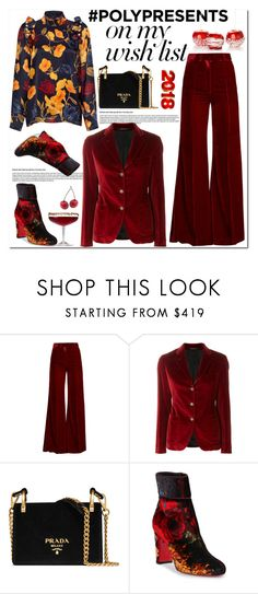 """#PolyPresents: Wish List"" by lina-bovary ❤ liked on Polyvore featuring Racil, Tagliatore, Prada, Christian Louboutin, Mother of Pearl, contestentry and polyPresents"