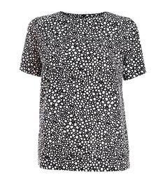Black And White Pattern Top By : Nurmi