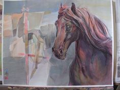 Movement, color, light (Deruta) -by Mara Diaconu. Mixed Media Artists, Horses, Mix Media, Albums, Study, Painting, Picasa, Studio, Painting Art