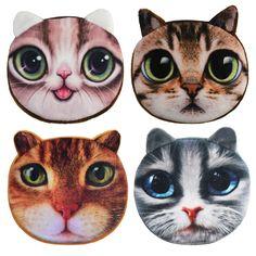 2016 Promotion Oval Zipper Coin Wallets 3D Animal Printing Children Money Bag Women Plush Coin Purses #jewelry, #women, #men, #hats, #watches
