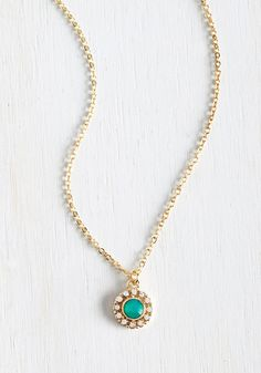 Delicate Drop Necklace in Mint, @ModCloth