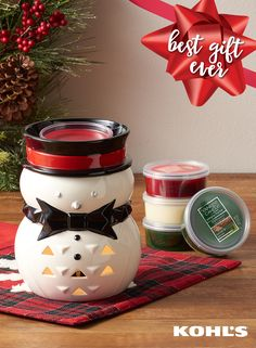 Give the holiday gift of a house filled with Christmas scents to your favorite host or hostess. The yummy aroma will create the perfect holiday party. Hint: these are perfect for moms and dads! Featured product includes: Yankee Candle Scenterpiece Jackson Frost timer wax melt warmer, simply home balsam and spruce scenterpiece wax melt cup; simply home frosted cinnamon scenterpiece wax melt cup, simply home scenterpiece holiday treats wax melt cup and simply home scenterpiece holiday magic…