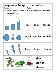 Comparative Endings -er and -est