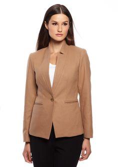 DREW Long Sleeve Plush Blazer Jacket