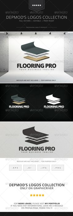 Flooring Pro Logo — Vector EPS #wooden #identity • Available here → https://graphicriver.net/item/flooring-pro-logo/7919950?ref=pxcr