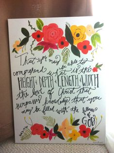 hand painted inspirational bible verse quote by Meghanbranlund