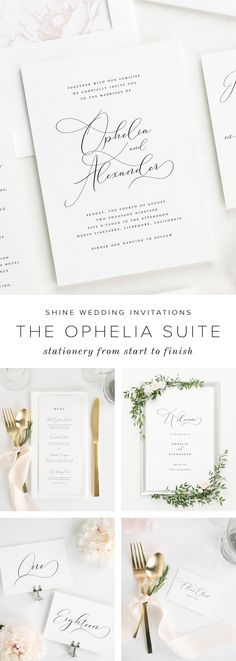 Timeless stationery for your modern wedding. Our clean, simple, and elegant wedding invitations are intentionally designed to stand the test of time. Shine Wedding Invitations offers complete wedding stationery sets from save the dates and invitations to matching wedding programs, menus, and more.