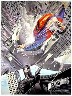 Superman and Batman by Alex Ross