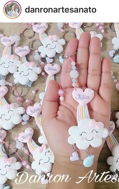 :)'s media content and analytics Polymer Clay Dolls, Polymer Clay Charms, Unicorn Birthday Parties, Unicorn Party, Clay Crafts, Felt Crafts, Cloud Party, Baby Shawer, Love Rain