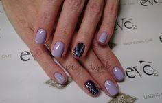 Purple Gel Overlay with Nail Art