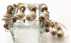 A personal favorite from my Etsy shop https://www.etsy.com/listing/271637876/snake-disc-ostrich-shell-bracelet