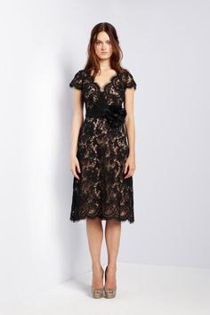 Black lace by Collette Dinnigan Spring 2013 RTW.    Spring 2013 Fashion Trend: lace