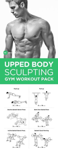 Mens Fitness: Upper Body Sculpting Gym Workout Pack with Exercis. Fitness Motivation, Fitness Gym, Body Fitness, Health Fitness, Fitness Shirts, Mens Fitness, Fitness Tips For Men, Key Health, Abdo Workout