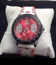 ⌂Ω Winner #watch face with custom strap. Strap is made from the leather of a #real http://etsy.me/2g1auf7