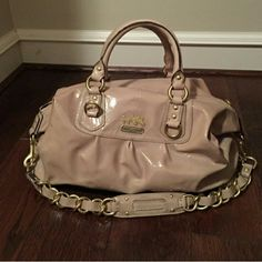 **Lmtd edition** large sabrina Beautiful bag. Perfect condition. Other than a few spots on the back that are pictured. Not sure if it it was like that when i got it or not. #12948. Comes with dust bag.  Price dropped considerably with finding of wear. Coach Bags Shoulder Bags