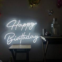 Happy Birthday Custom Party Neon Sign Acrylic Flex Led Custom | Etsy Company Signage, Neon Lamp, Custom Neon Signs, Neon Light Signs, Led Signs, Signage Design, Neon Lighting, Happy Birthday, Birthday Ideas