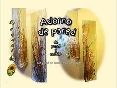 ADORNO DE PARED de papel periódico y cartón - Wall ornament newsprint and cardboard - YouTube