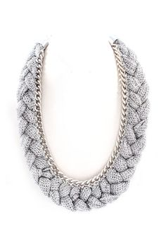 Mesh Grace Necklace in Silver