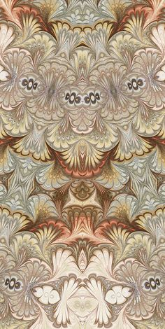 Original marbled paper by Susan Pogany. Digitally altered by Susan Pogany. Digital art.