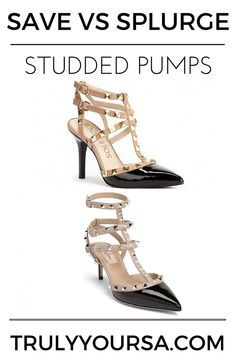 ef0de48242d6e0 A save versus splurge post comparing the Sole Society Tiia pumps and  Valentino Rockstud pumps.