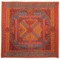 Amazing Hermes Silk Scarf | From a collection of rare vintage scarves at https://www.1stdibs.com/fashion/accessories/scarves/