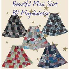 """Hippy Boho Patchwork Skirt"" by mogul-interior on Polyvore"