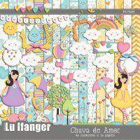 Kit Digital Chuva de Amor by Lu Ifanger