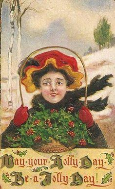 postcard.quenalbertini: Vintage Christmas Card