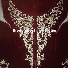 Embroidery Neck Designs, Hand Embroidery, Abaya Designs, Red Suit, Drawing Reference, Traditional Dresses, Kaftan, Dress Patterns, Sewing