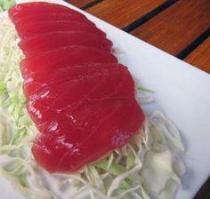 La Cuisine tahitienne La recette de sashimi de thon rouge (de préférence!) Made in Tahiti! à consommer avec du riz bien chaud !