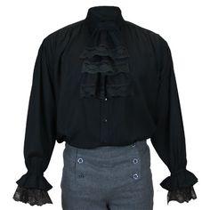 Marcus Jabot Shirt - Black