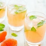 A refreshing summer drink- Grapefruit and Mint Cooler.