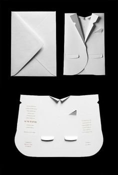 A fashion show invitation card - would be cute for a trunk showing, too! :)