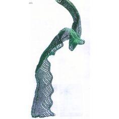 Grønt sjal i Manos lace