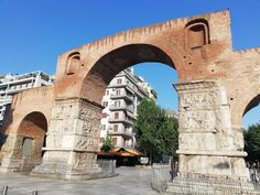 Thessaloniki Galerius Arch Thessaloniki, Macedonia, Brooklyn Bridge, Arch, Travel, Bow, Arches, Viajes, Traveling