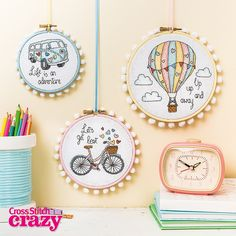 Take a trip with these beautiful travel-themed hoops from issue 204 of Crazy. On sale in all good newsagents now, it's also available to download to your smartphone or tablet!