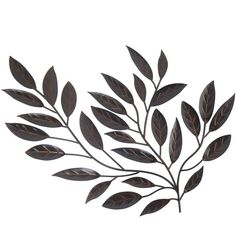 Metal Leaves Wall Decor ($90) ❤ liked on Polyvore featuring home, home decor, metal home decor, leaf home decor and minimalist home decor