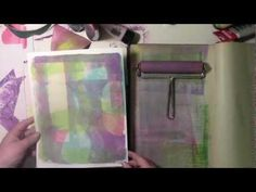 Below is a  video of the making of the background paper and how the layers of color and pattern built up using Jessica's wonderful stencil!