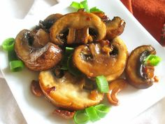 Teriyaki Mushrooms and Cashews. Add some spinach or kale and serve over rice.