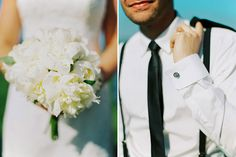 Swedish Summer Wedding  White Wedding Bouquet  2 Brides Photography