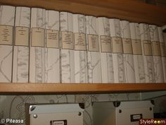 repurpose old binders with wallpaper and new labels Family Planner, Recipe Binders, Organization, Organizing, Declutter, Fun Projects, Repurposed, Wallpaper, How To Make