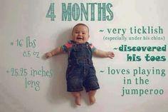 Resumen de lo que es son los meses de un bebé  hasta cumplir el año.