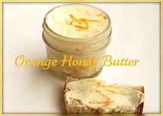Orange Honey Butter cup butter 1 orange, zested 1 Tablespoon orange juice 1 Tablespoon honey Whip room temperature butter until it's smooth and creamy. Add to it the orange juice, zest and honey. Place in 4 oz. glass canning jar and sec Flavored Butter, Homemade Butter, Butter Recipe, Homemade Gifts, Whipped Butter, Overnight Bread Recipe, Artisan Bread Recipes, Compound Butter, Butter Spread