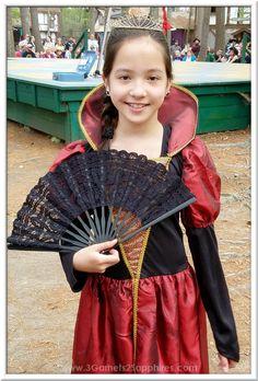 Renaissance Princess Costume with Lace Fan at King Richard's Faire [AD] King Richard, Renaissance Costume, Cool Costumes, Fan, Princess, Kids, Souvenir, Young Children, Children