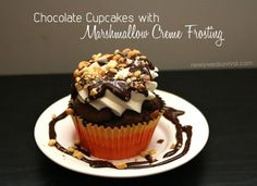 Recipe: Chocolate Cupcakes with Marshmallow Creme Frosting #recipe #cupcakes